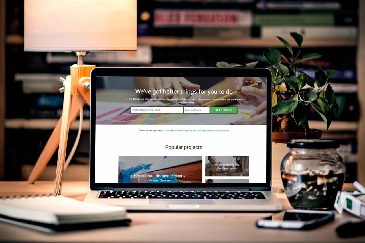 Bidvine desktop1 - Think Yellow Pages, Think online, Think BIDVINE!